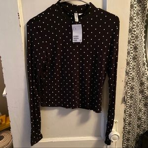 H&M divided cropped turtle neck